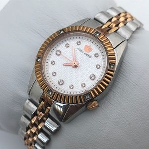 Marc Ecko Ladies Watch Two Tone Silver Gold Japan